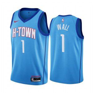 rockets john wall blue city 2020 trade jersey