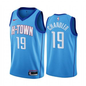 rockets tyson chandler blue city h town jersey