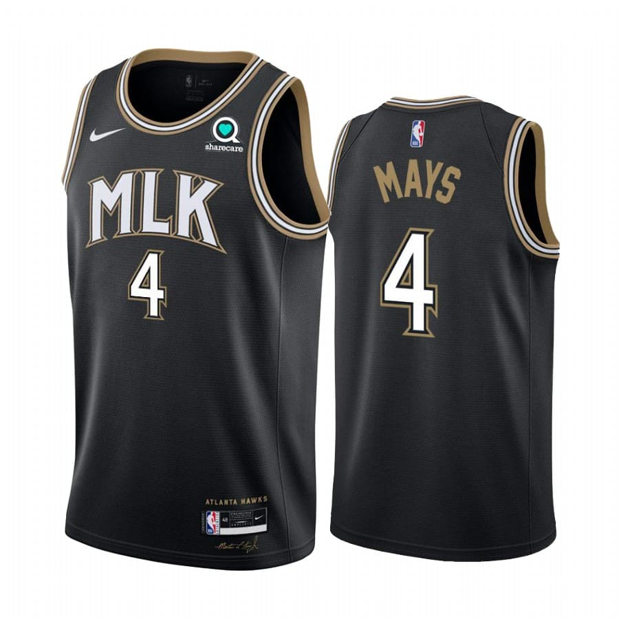 skylar mays hawks black city edition 2020 21 jersey