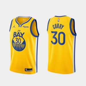stephen curry golden state warriors gold statement edition 2020 21 career high jersey