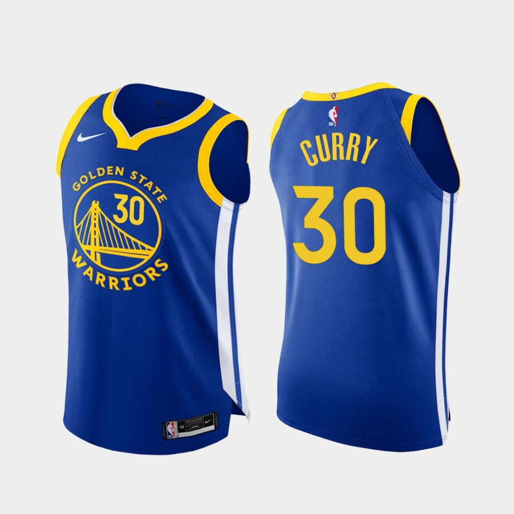 stephen curry warriors 2020 21 royal authentic icon edition jersey