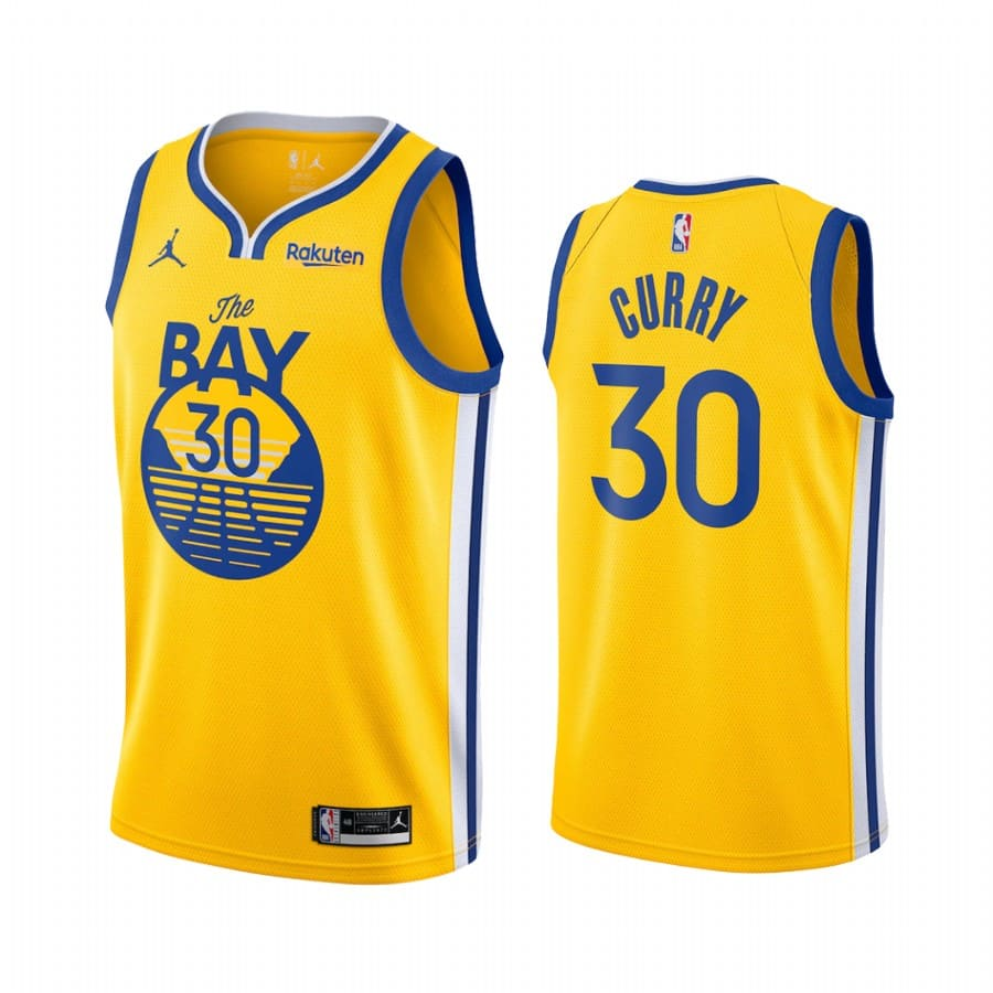 stephen curry warriors 2020 21 statement edition gold jersey