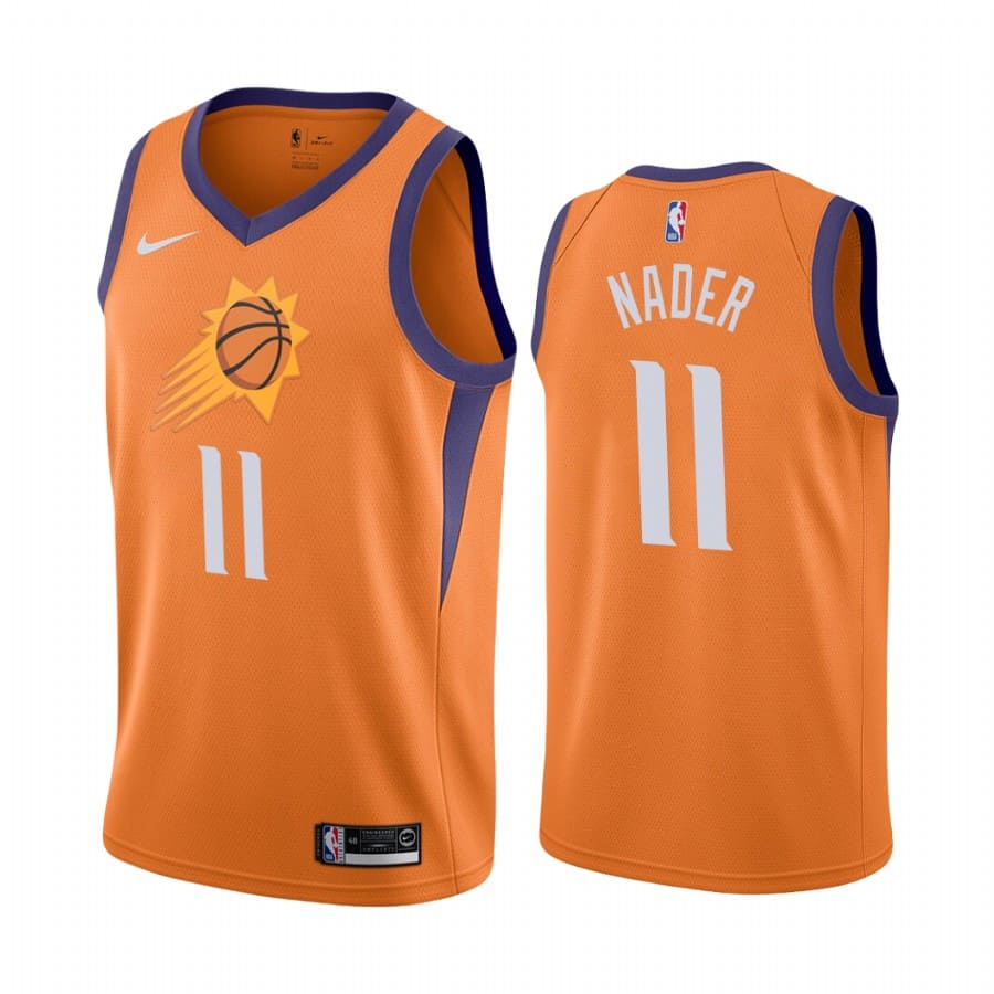 suns abdel nader orange statement edition 2020 trade jersey