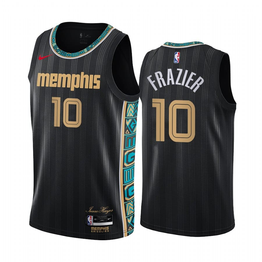 tim frazier grizzlies black city edition 2020 21 jersey