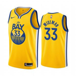 warriors james wiseman gold statement 2020 nba draft jersey