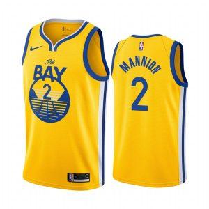warriors nico mannion gold statement 2020 nba draft jersey