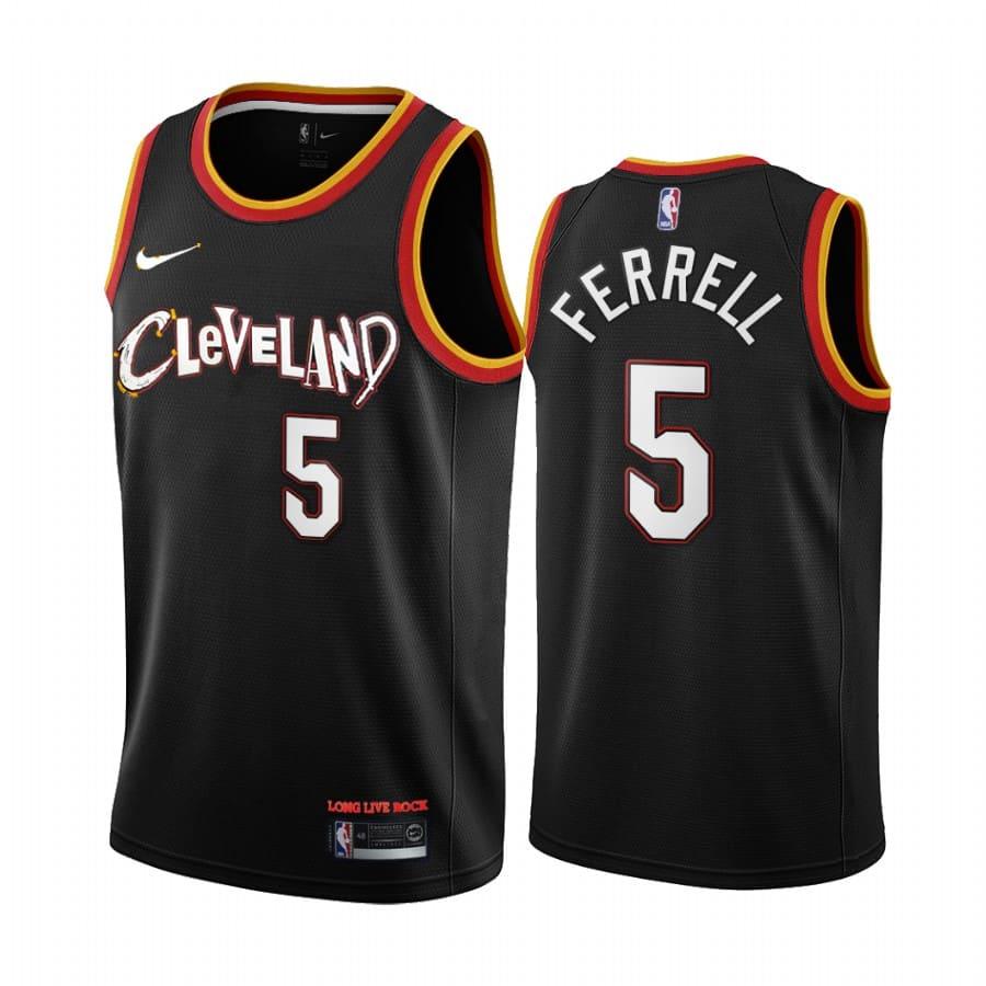 yogi ferrell cavaliers black city edition 2020 21 jersey