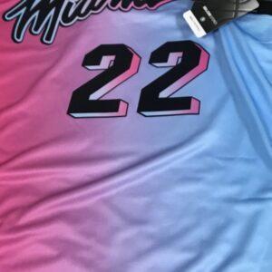 2020 21 Miami Heat 22 Jimmy Butler City Edition Blue Pink Swingman Jersey
