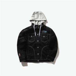 2020 Atlanta Hawks Black Mens Jacket 1