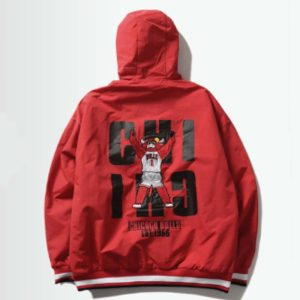 2020 Chicago Bulls Mens Anorak back 2