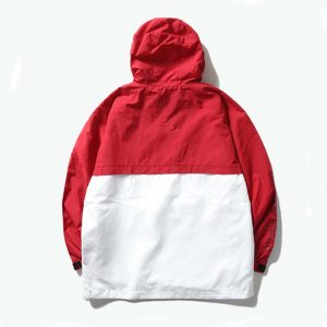 2020 Chicago Bulls Red White Mens Anorak 2