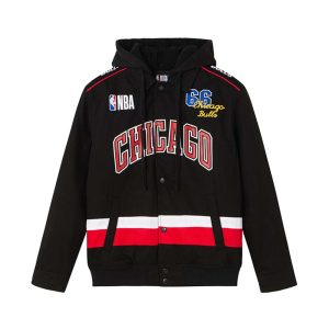 2020 Chikago Bulls Black Jacket Mens 1