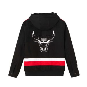 2020 Chikago Bulls Black Jacket Mens 2