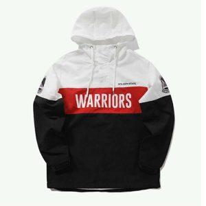 2020 Golden State Warriors Black White Anorak Mens 1