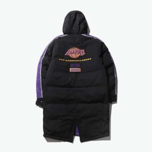 2020 Los Angeles Lakers Black Down Jacket Unisex 2