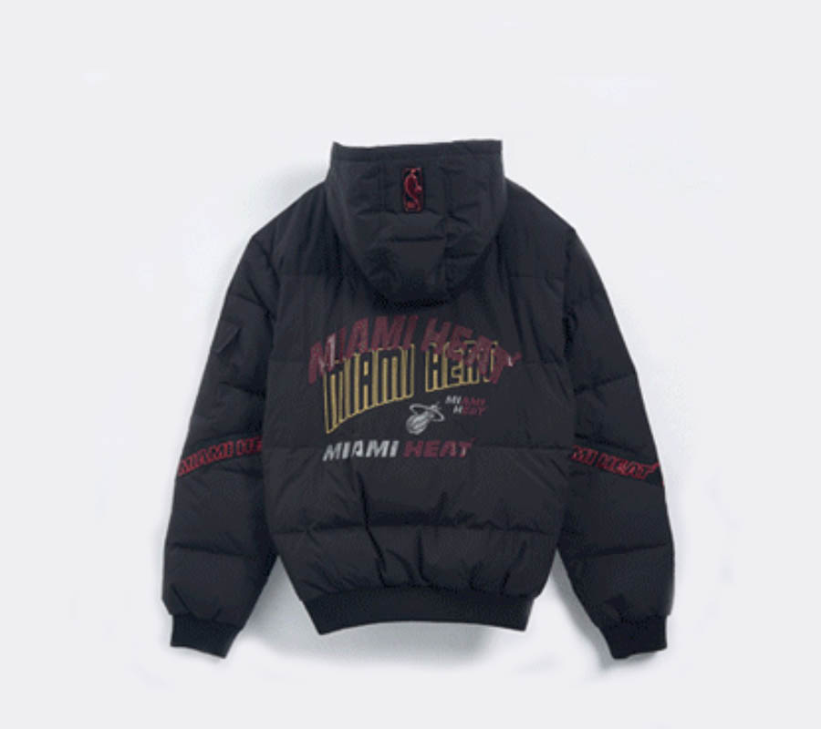 2020 Miami Heat Down Jacket Mens 2
