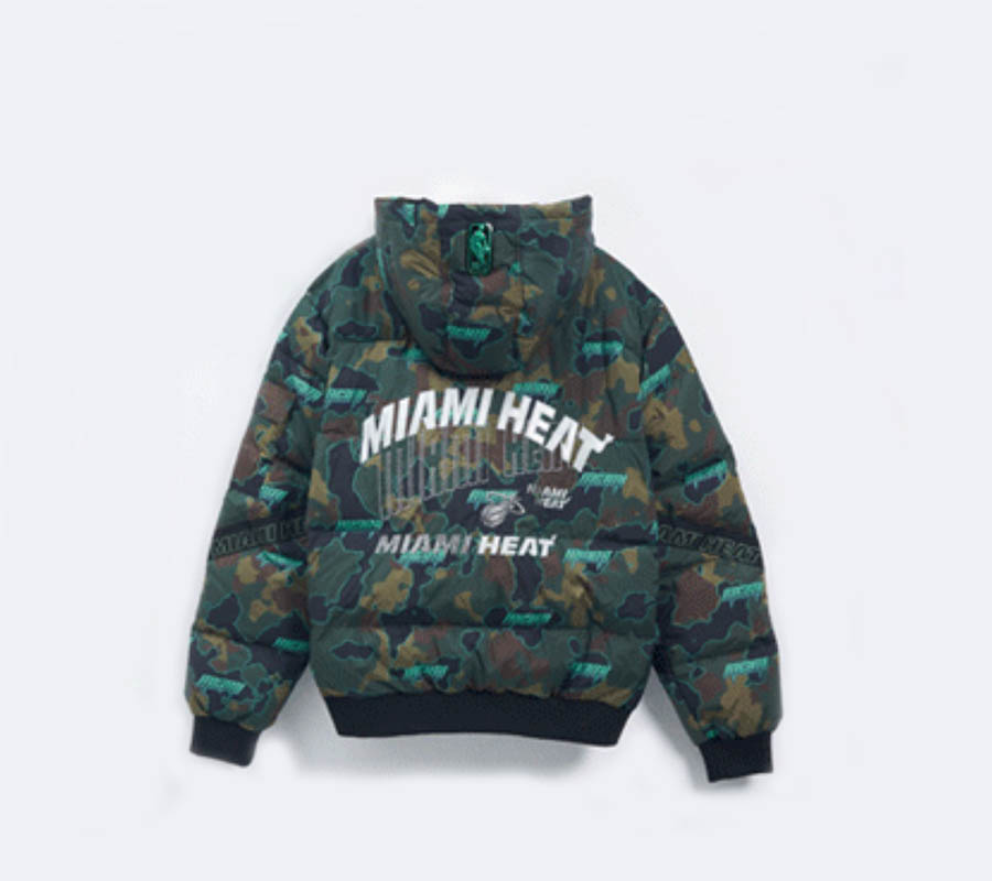2020 Miami Heat Down Jacket Mens 4