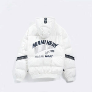 2020 Miami Heat White Down Jacket Womens 2