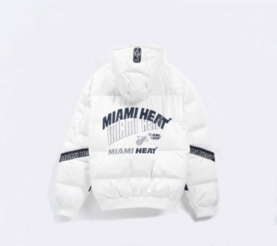 2020 Miami Heat White Down Jacket Womens 2