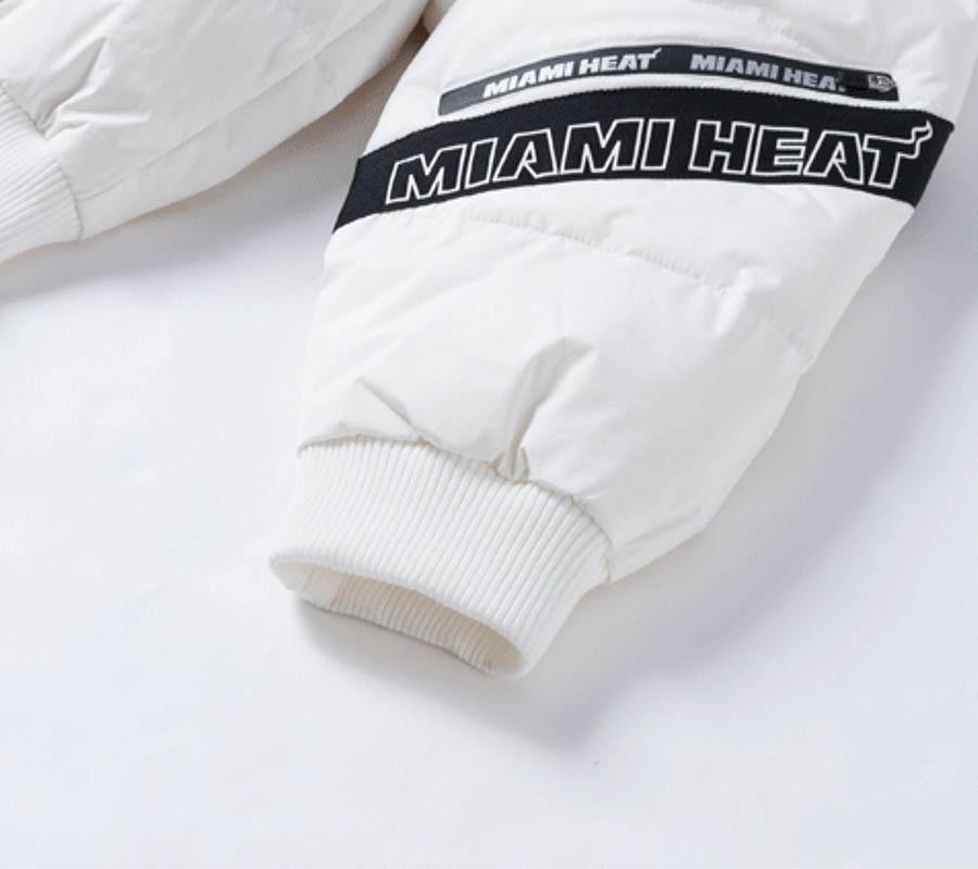 2020 Miami Heat White Down Jacket Womens 3