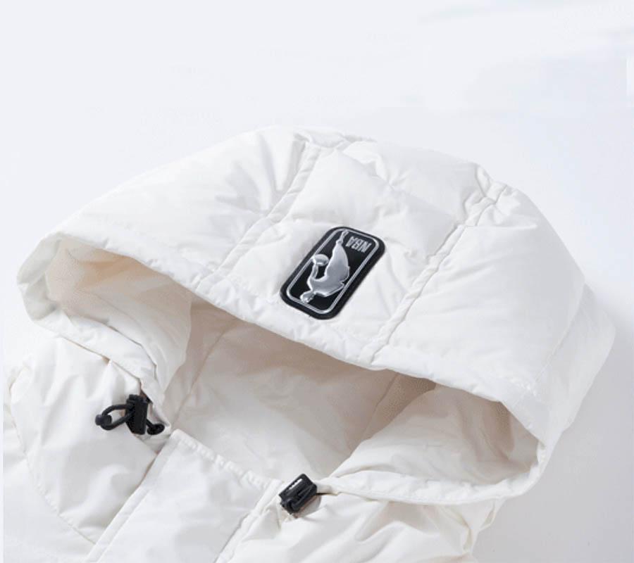 2020 Miami Heat White Down Jacket Womens 4