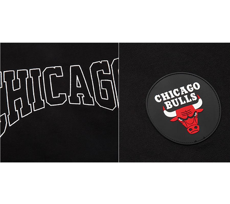 2020 NBA Chicago Bulls Mens Bomber Black White 4