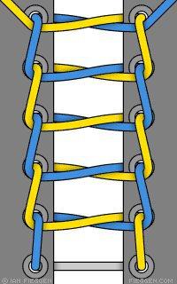 5 sposobov krasivo zashnurovat krossovki lestnitsa