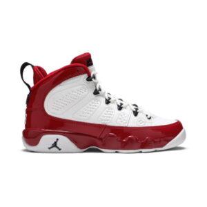 Air Jordan 9 Retro White Gym Red GS