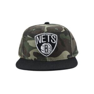 Camo Paintbrush Snapback Brooklyn Nets 1