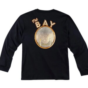 Mitchell Ness x E 40 x Golden State Warriors Long Sleeve T Shirt Black1