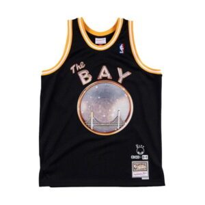 Mitchell Ness x E 40 x Golden State Warriors Swingman Jersey Black