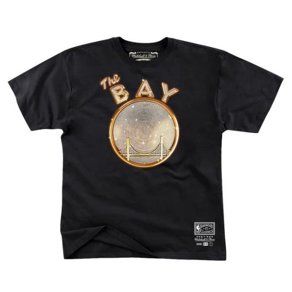 Mitchell Ness x E 40 x Golden State Warriors T Shirt Black