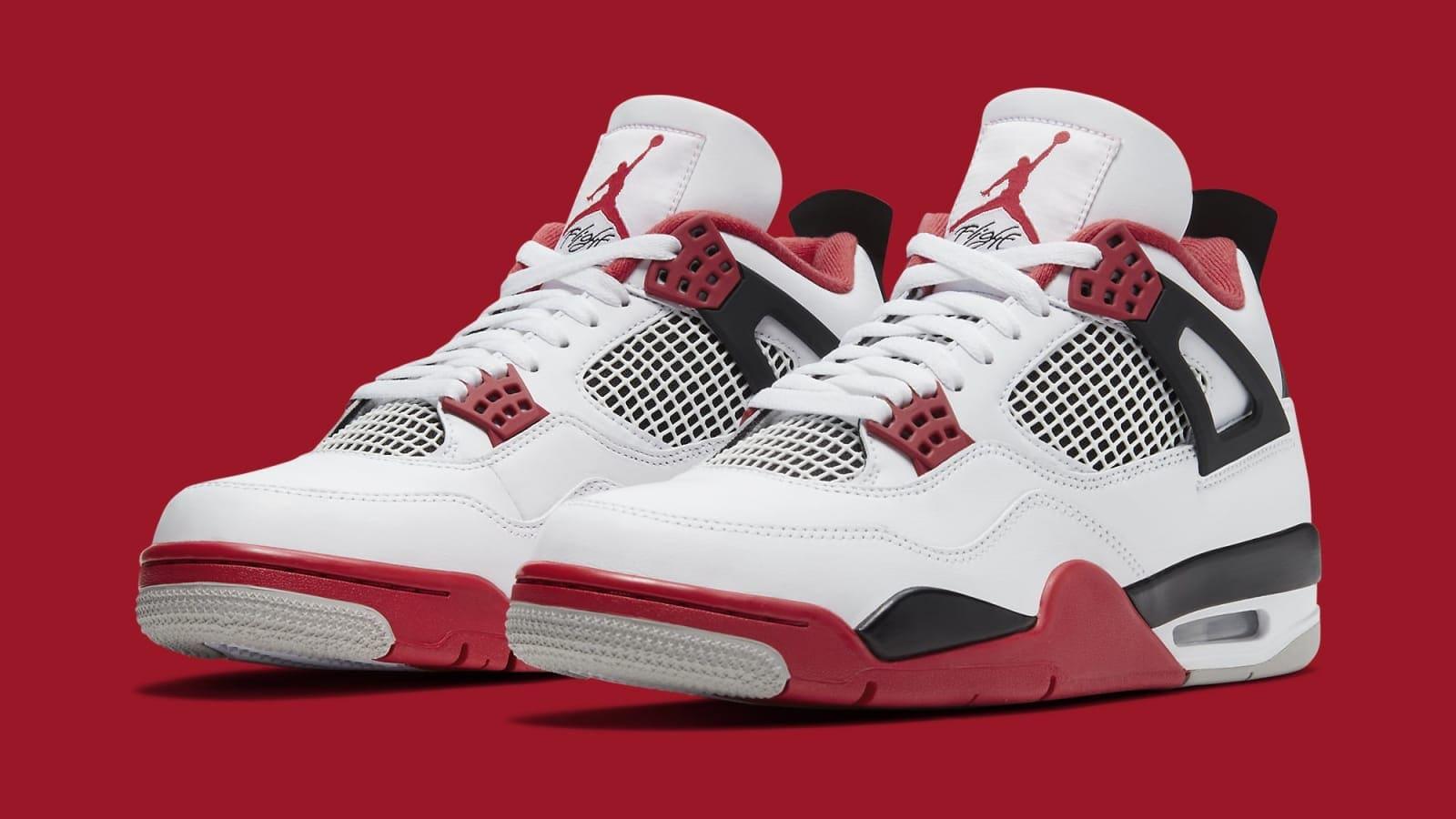 air jordan 4 iv fire red 2020 release date dc7770 160 pair