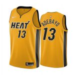 bam adebayo heat 2020 21 earned edition yellow jersey