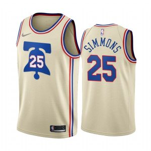ben simmons 76ers 2020 21 earned edition cream jersey 1