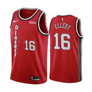 blazers c.j. elleby red classic 2020 nba draft jersey 1