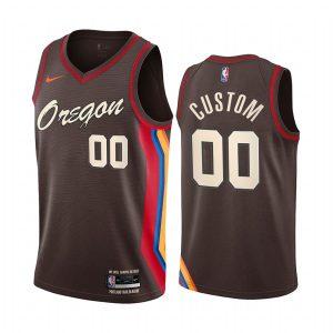 blazers custom chocolate city edition oregon jersey 1