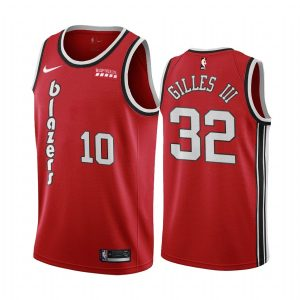 blazers harry gilles iii red classic 2020 nba draft jersey 1