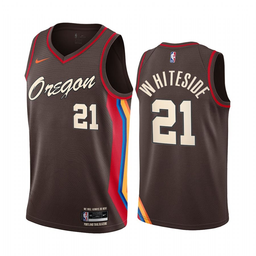 blazers hassan whiteside chocolate city edition oregon jersey 1