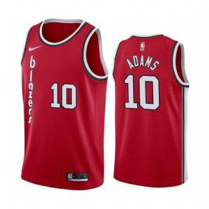 blazers jaylen adams red 2020 draft classic jersey 1