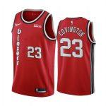 blazers robert covington red classics edition 2020 trade jersey 1