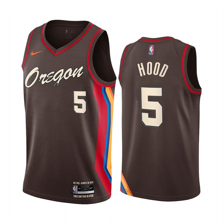blazers rodney hood chocolate city edition oregon jersey 1