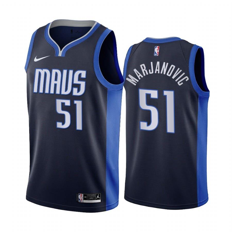 boban marjanovic mavericks 2020 21 earned edition navy jersey