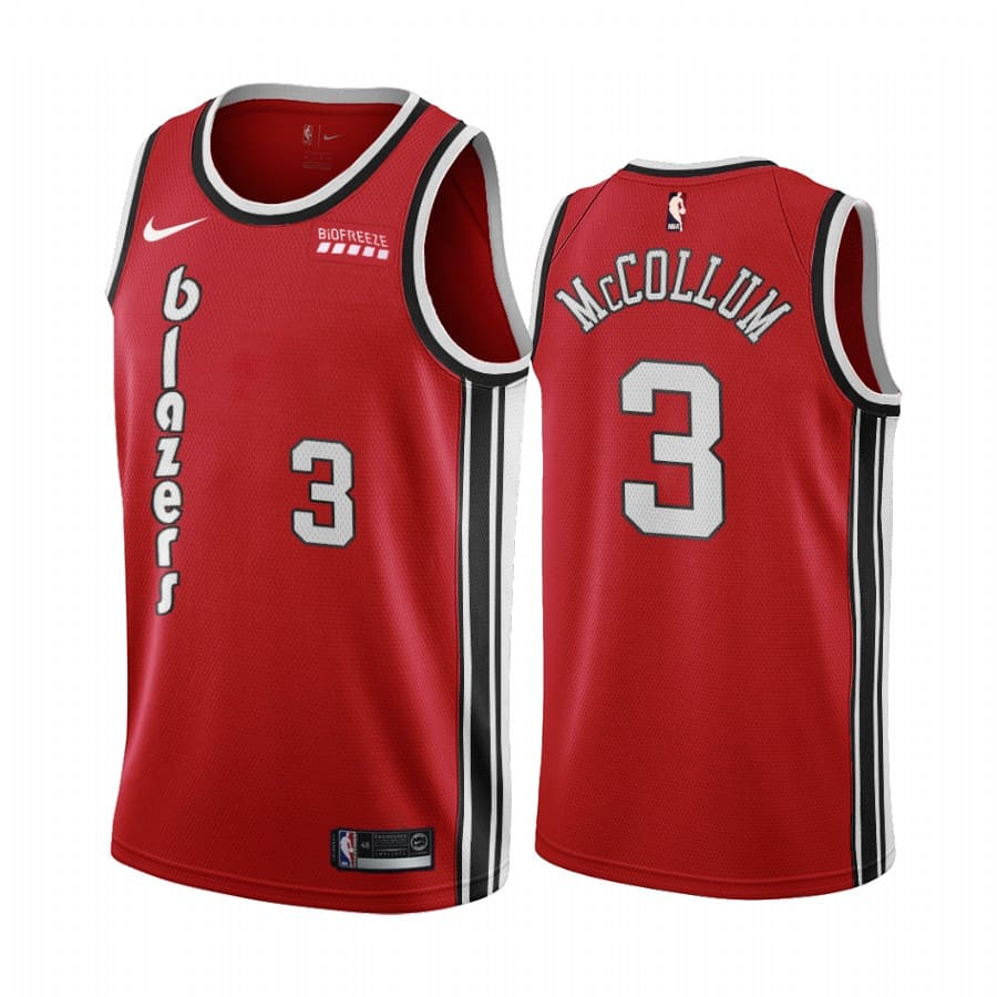 c.j. mccollum red classic edition jersey 1