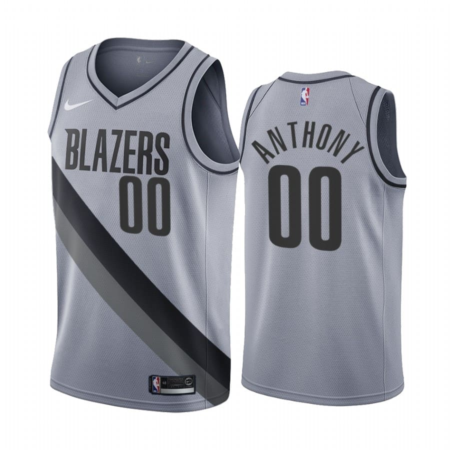 carmelo anthony blazers 2020 21 earned edition gray jersey