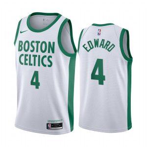 celtics carsen edward white city edition new uniform jersey