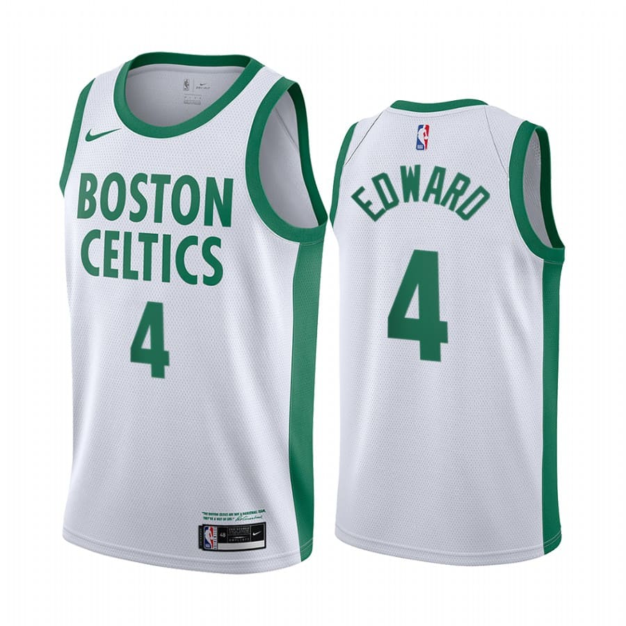 celtics carsen edward white city edition new uniform jersey