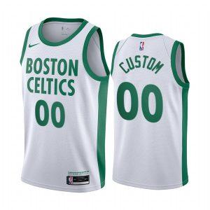 celtics custom white city edition new uniform jersey
