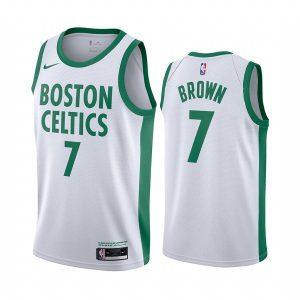 celtics jaylen brown white city edition new uniform jersey