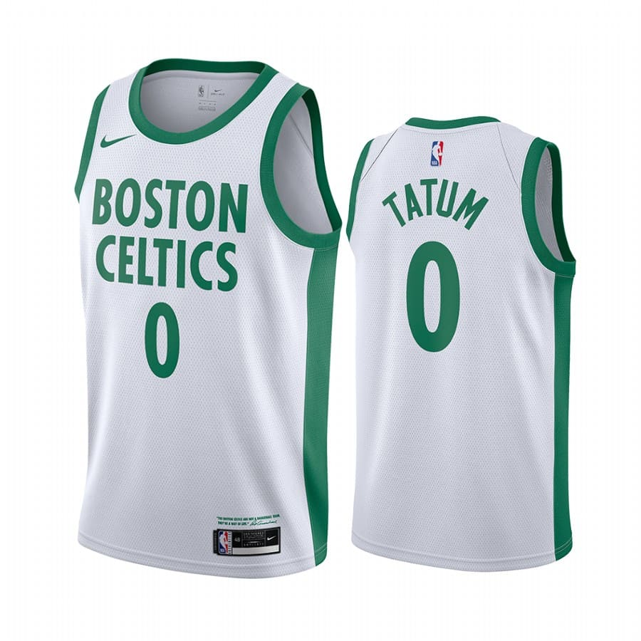 celtics jayson tatum white city edition new uniform jersey